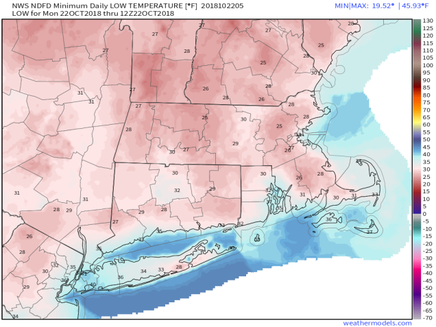 NWS NDFD 2.5-km Mass & CT & RI 2-m Daily Low T 1